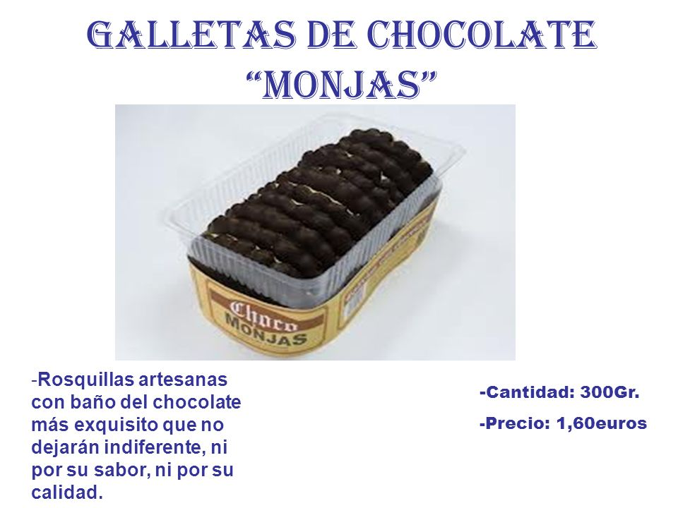GALLETAS DE CHOCOLATE MONJAS