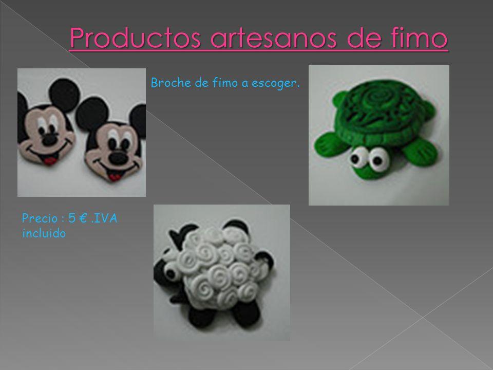 Productos artesanos de fimo