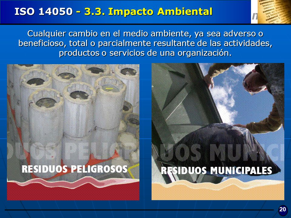 ISO 14050 - 3.3. Impacto Ambiental