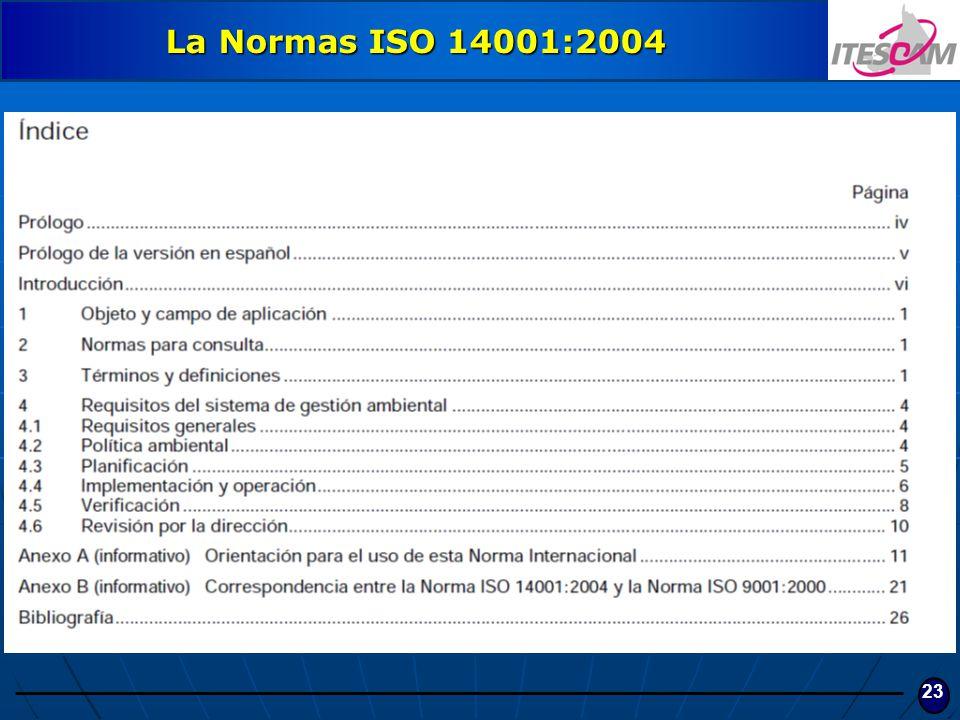 La Normas ISO 14001:2004