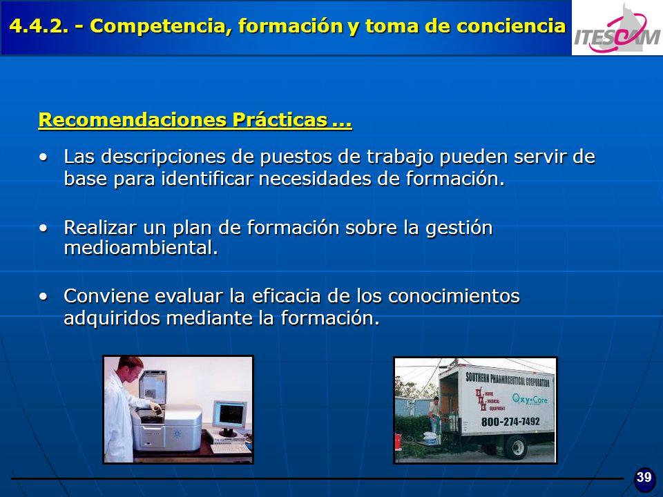 4.4.2. - Competencia, formación y toma de conciencia