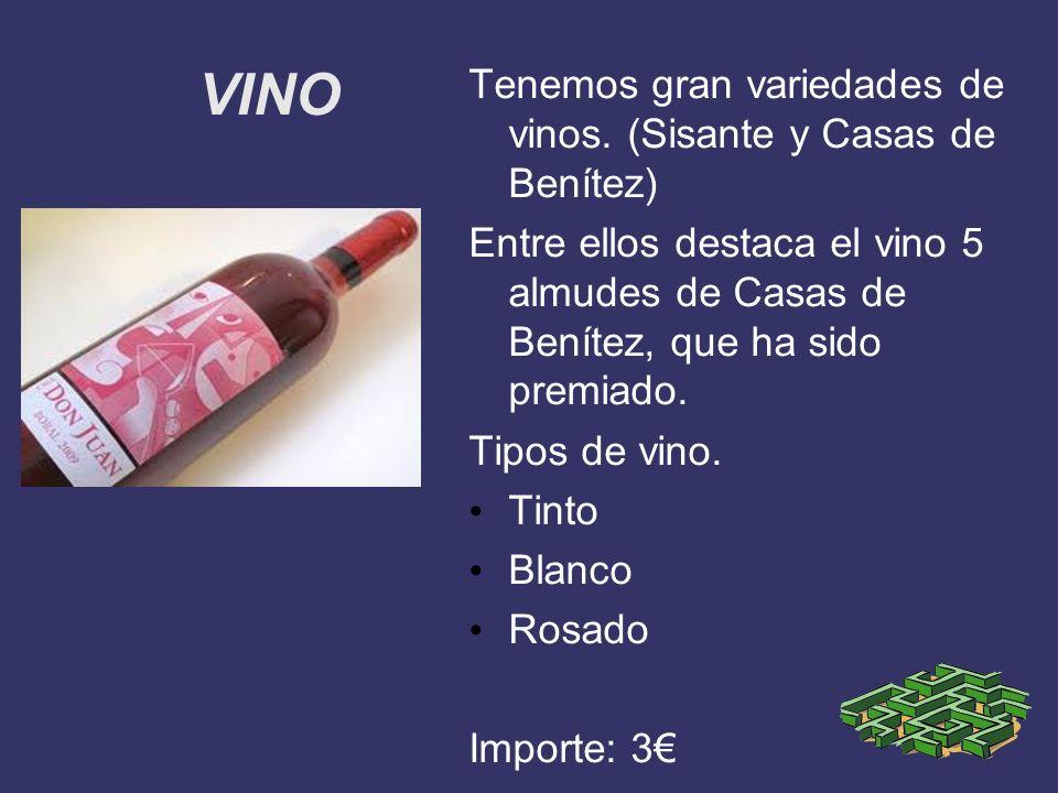 VINO Tenemos gran variedades de vinos. (Sisante y Casas de Benítez)