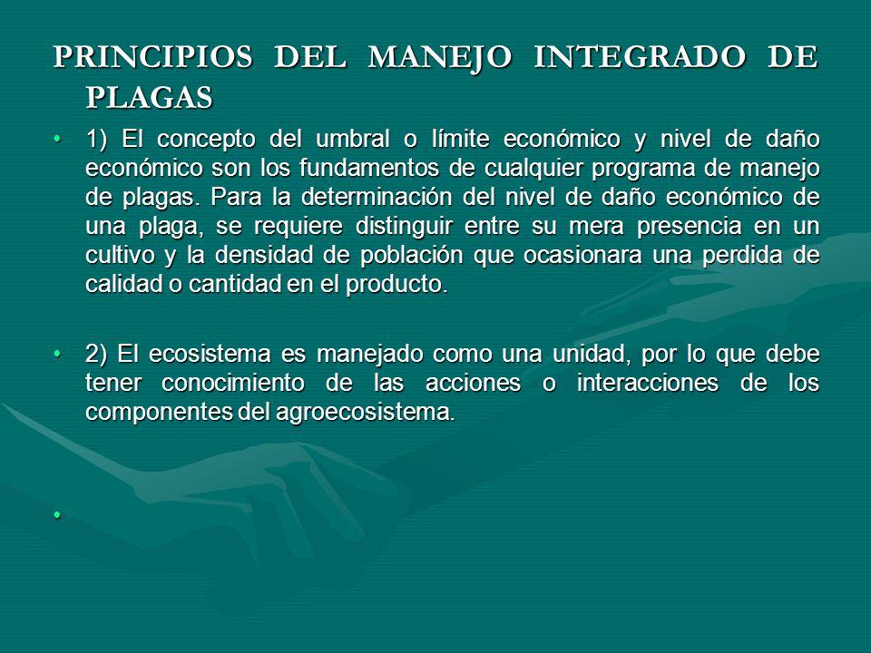 PRINCIPIOS DEL MANEJO INTEGRADO DE PLAGAS