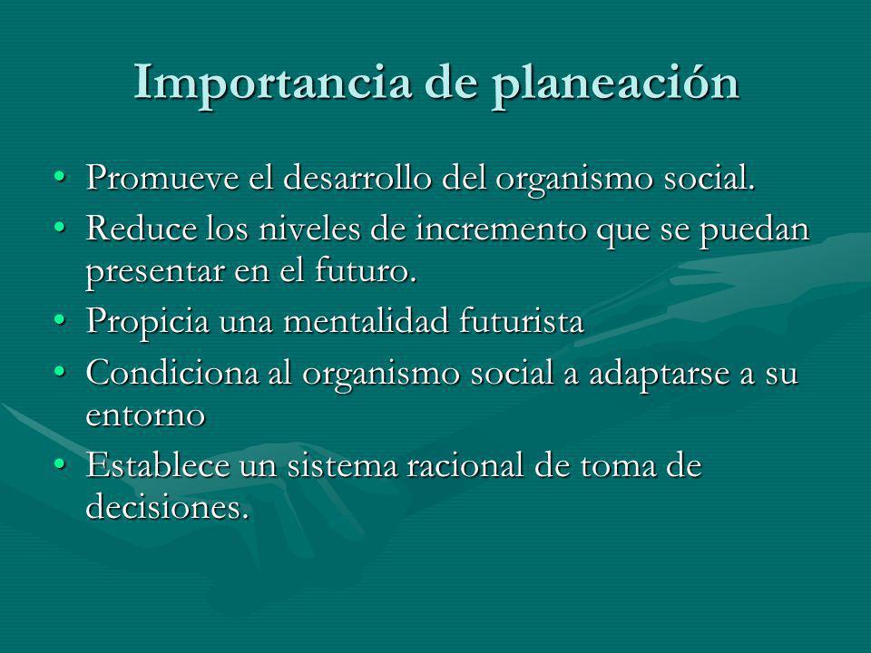 Importancia de planeación