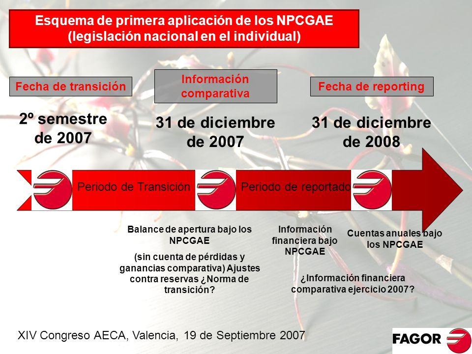 2º semestre de 2007 31 de diciembre de 2007 31 de diciembre de 2008