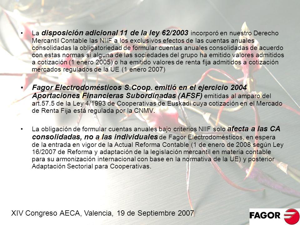 XIV Congreso AECA, Valencia, 19 de Septiembre 2007
