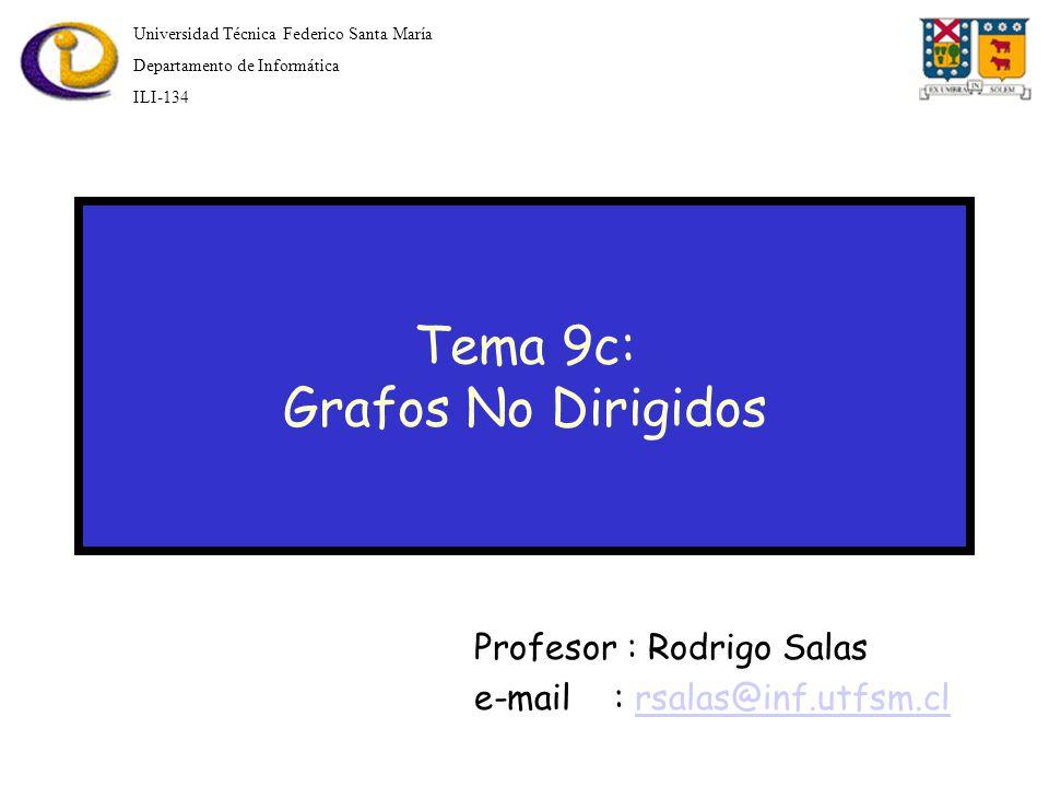 Tema 9c: Grafos No Dirigidos