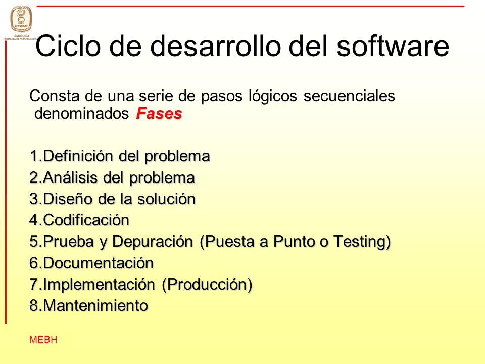 Ciclo de desarrollo del software