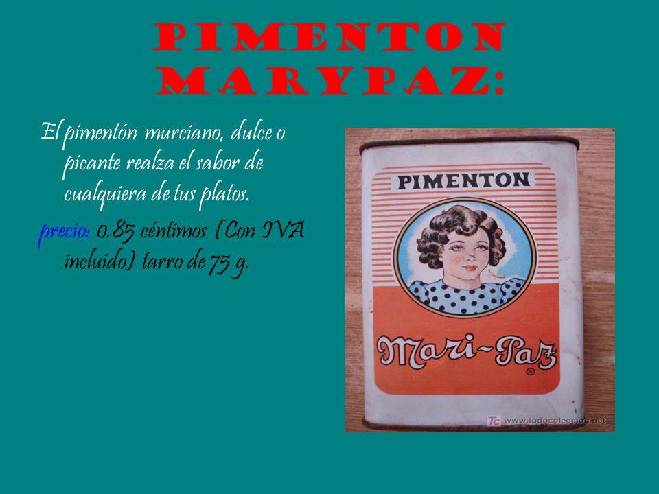 Pimenton marypaz:El pimentón murciano, dulce o picante realza el sabor de cualquiera de tus platos.