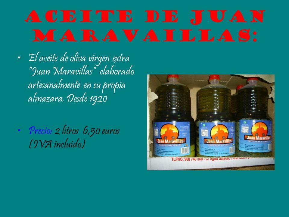 Aceite de Juan Maravaillas: