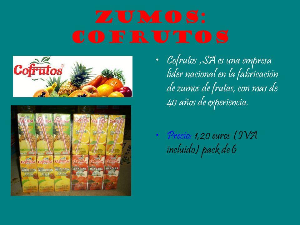 Zumos: Cofrutos Cofrutos ,SA es una empresa lider nacional en la fabricación de zumos de frutas, con mas de 40 años de experiencia.