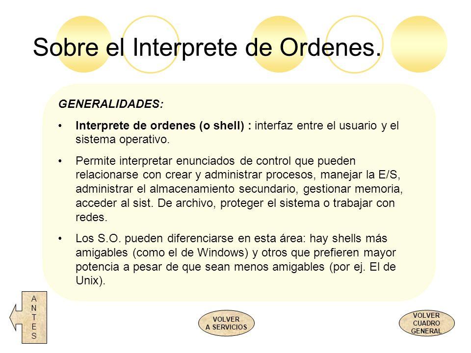 Sobre el Interprete de Ordenes.