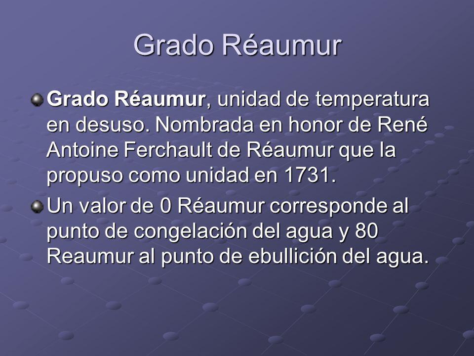 Grado Réaumur