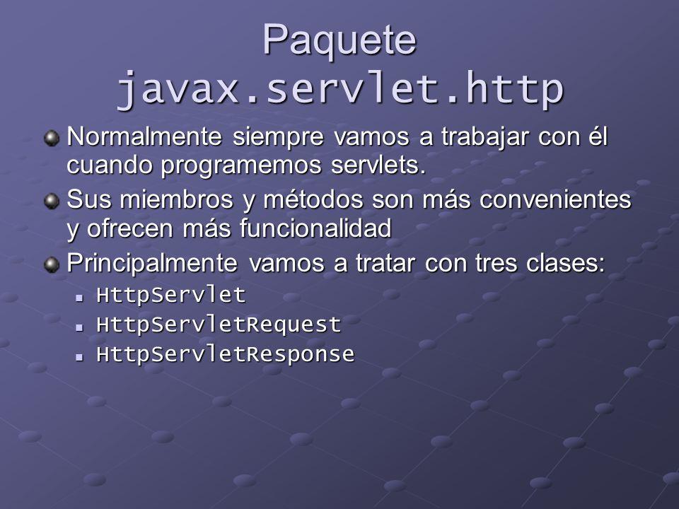 Paquete javax.servlet.http