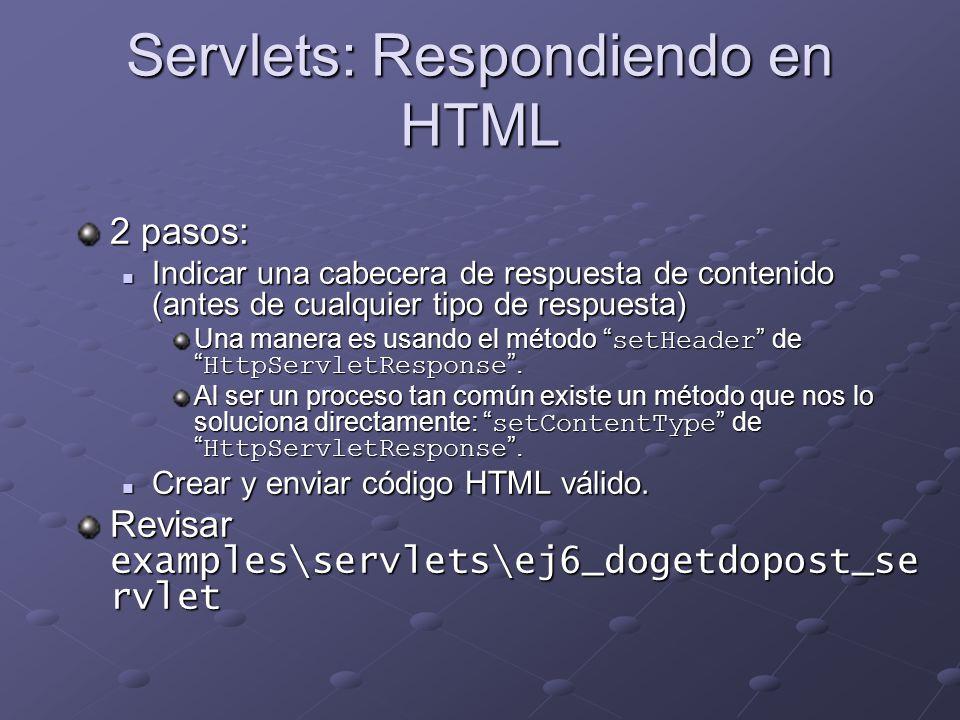Servlets: Respondiendo en HTML