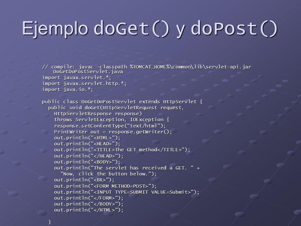 Ejemplo doGet() y doPost()