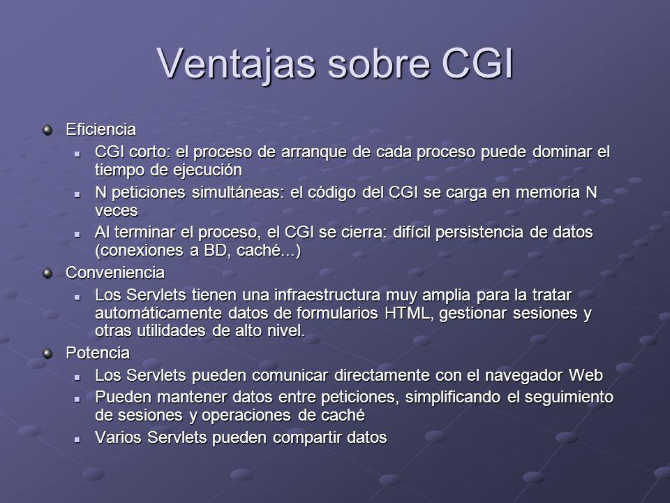 Ventajas sobre CGI Eficiencia