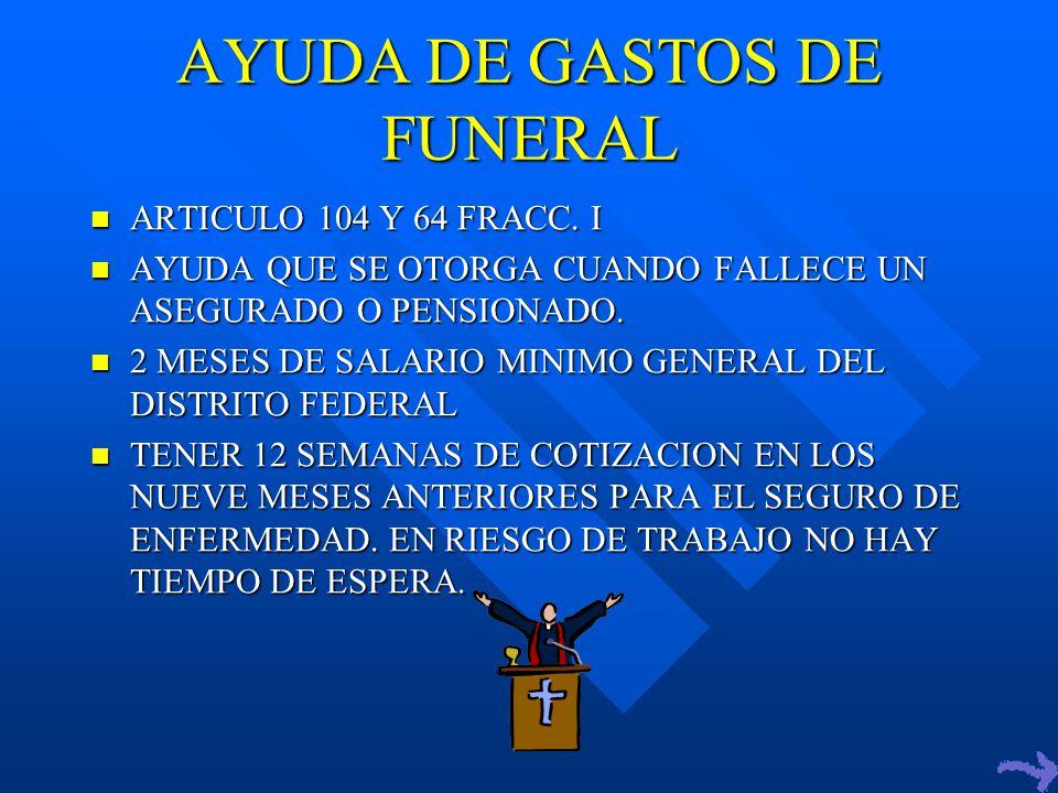AYUDA DE GASTOS DE FUNERAL