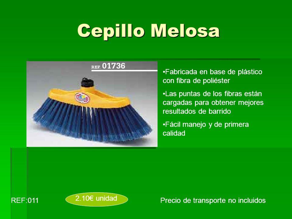 Cepillo Melosa Fabricada en base de plástico con fibra de poliéster