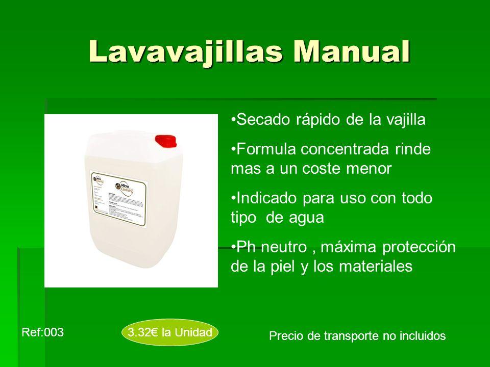 Lavavajillas Manual Secado rápido de la vajilla
