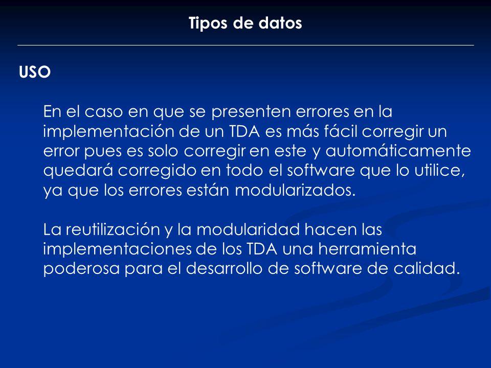 Tipos de datos USO.