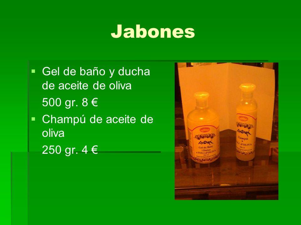 Jabones Gel de baño y ducha de aceite de oliva 500 gr. 8 €