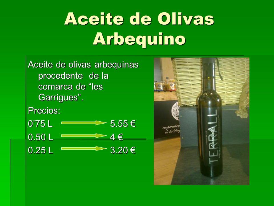 Aceite de Olivas Arbequino