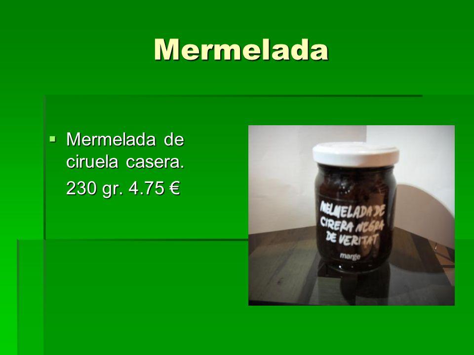 Mermelada Mermelada de ciruela casera. 230 gr. 4.75 €