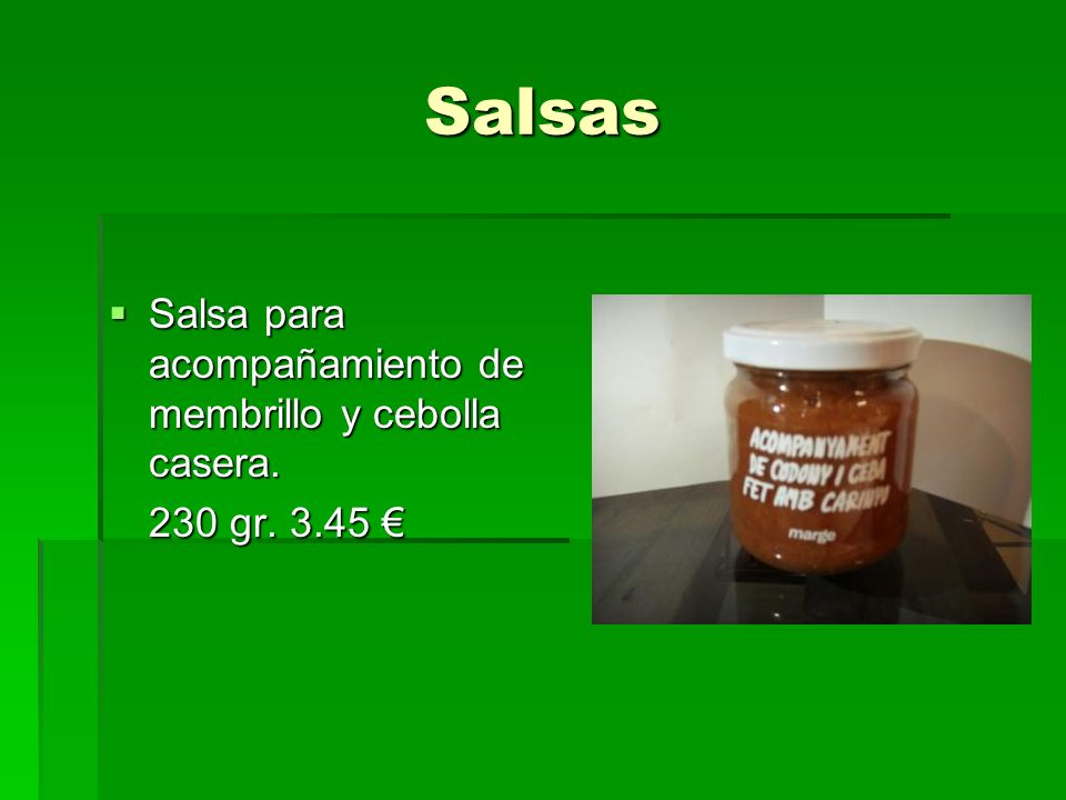 Salsas Salsa para acompañamiento de membrillo y cebolla casera.