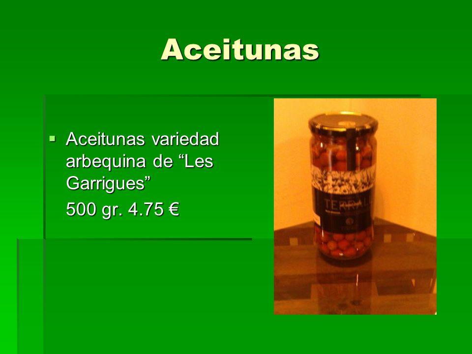 Aceitunas Aceitunas variedad arbequina de Les Garrigues