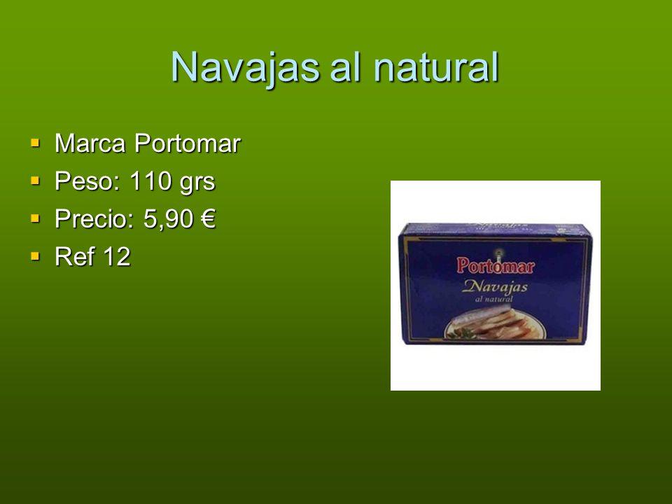 Navajas al natural Marca Portomar Peso: 110 grs Precio: 5,90 € Ref 12
