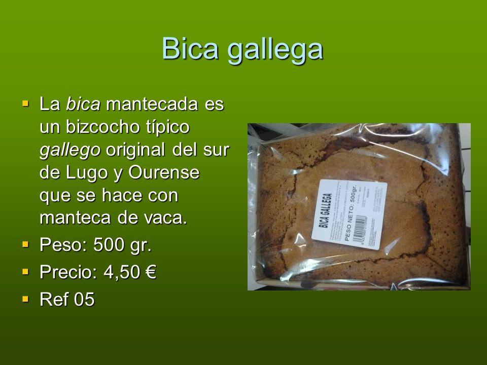 Bica gallega La bica mantecada es un bizcocho típico gallego original del sur de Lugo y Ourense que se hace con manteca de vaca.