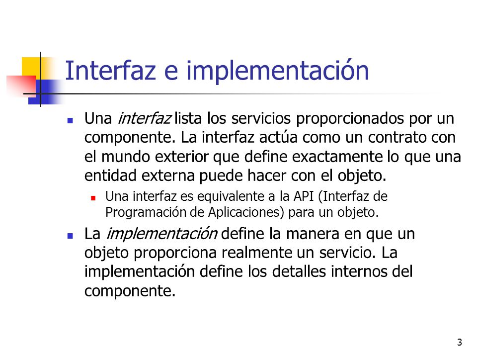 Interfaz e implementación