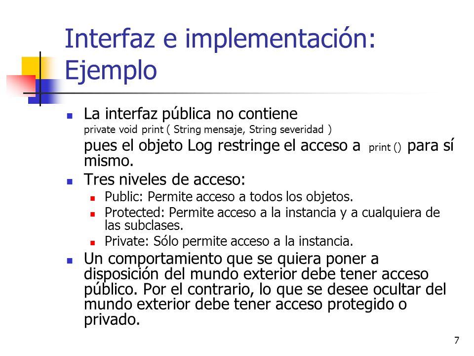 Interfaz e implementación: Ejemplo