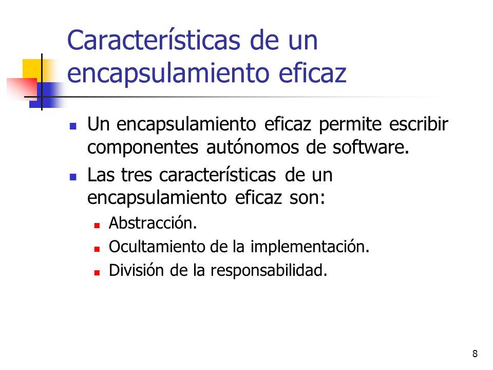 Características de un encapsulamiento eficaz