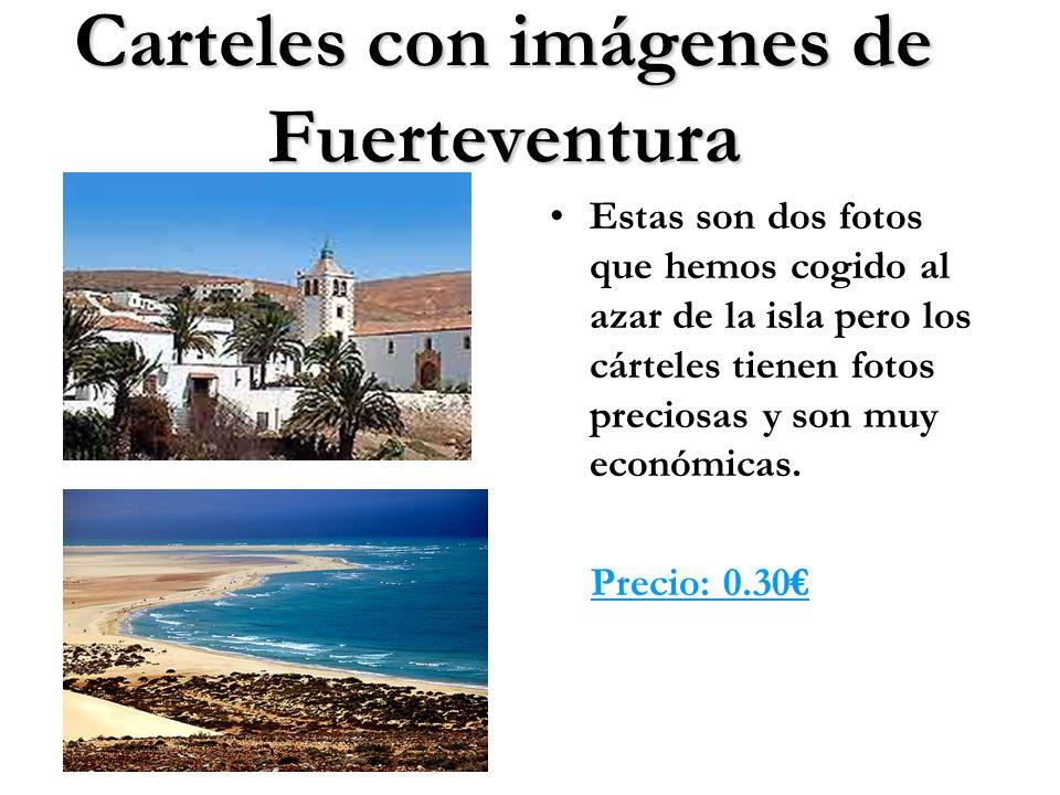 Carteles con imágenes de Fuerteventura