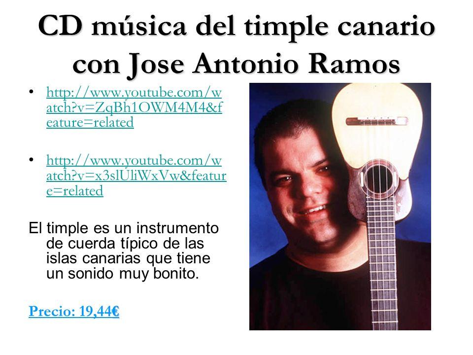 CD música del timple canario con Jose Antonio Ramos