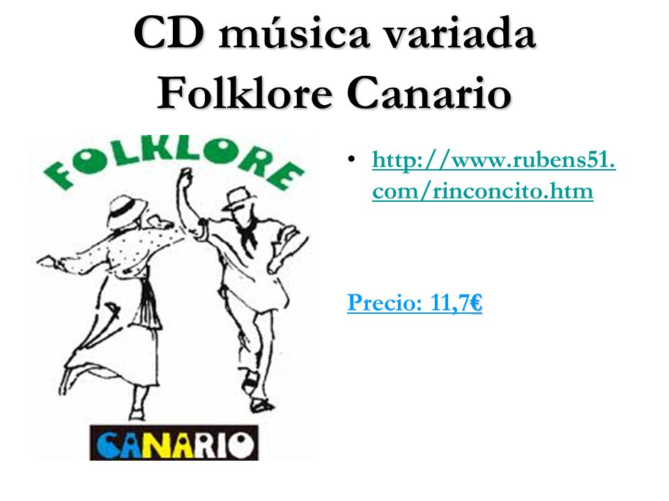 CD música variada Folklore Canario