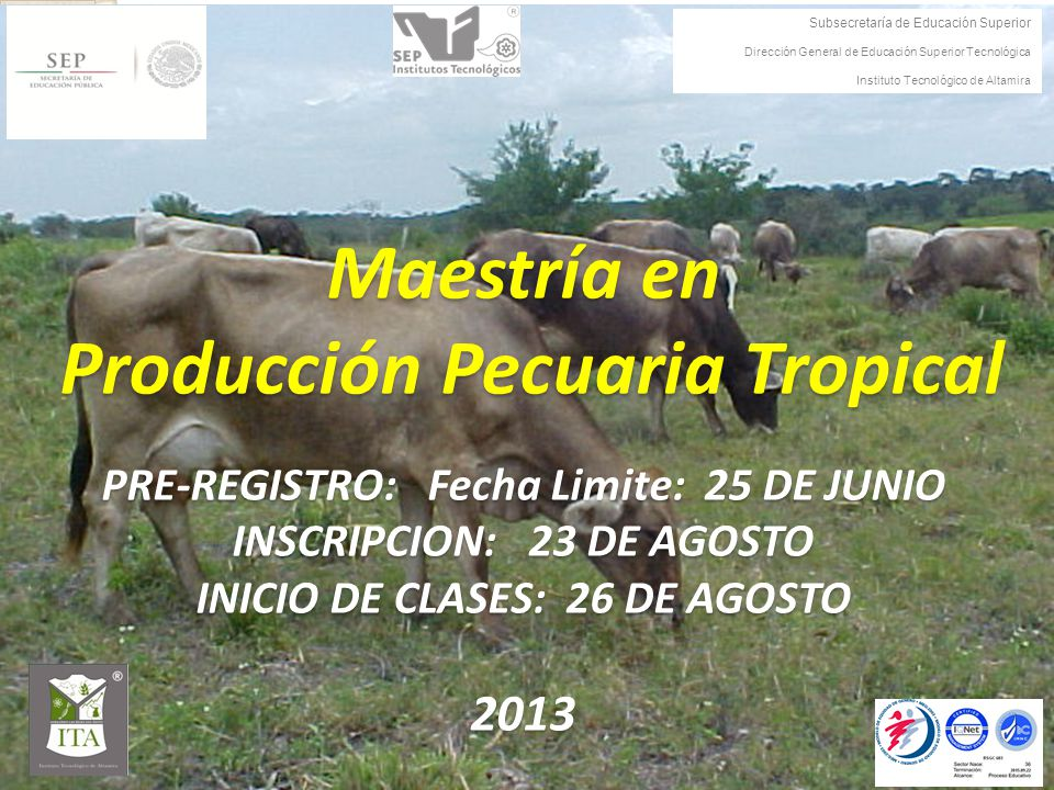 Maestría en Producción Pecuaria Tropical