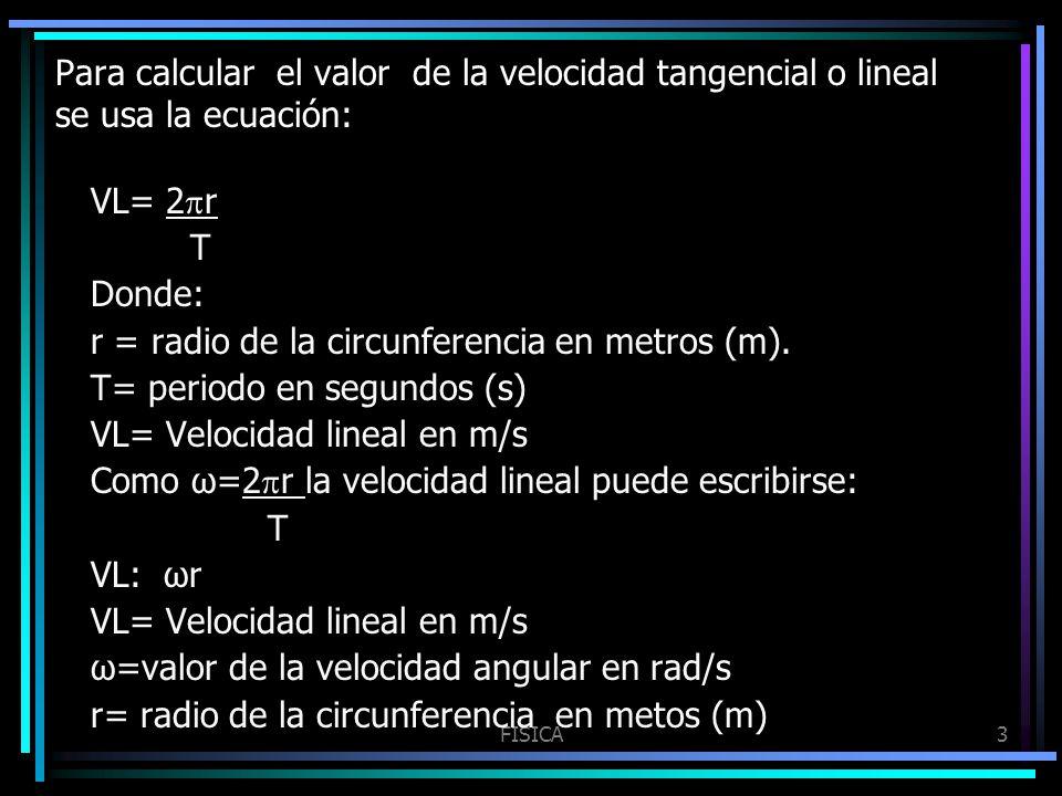 r = radio de la circunferencia en metros (m).
