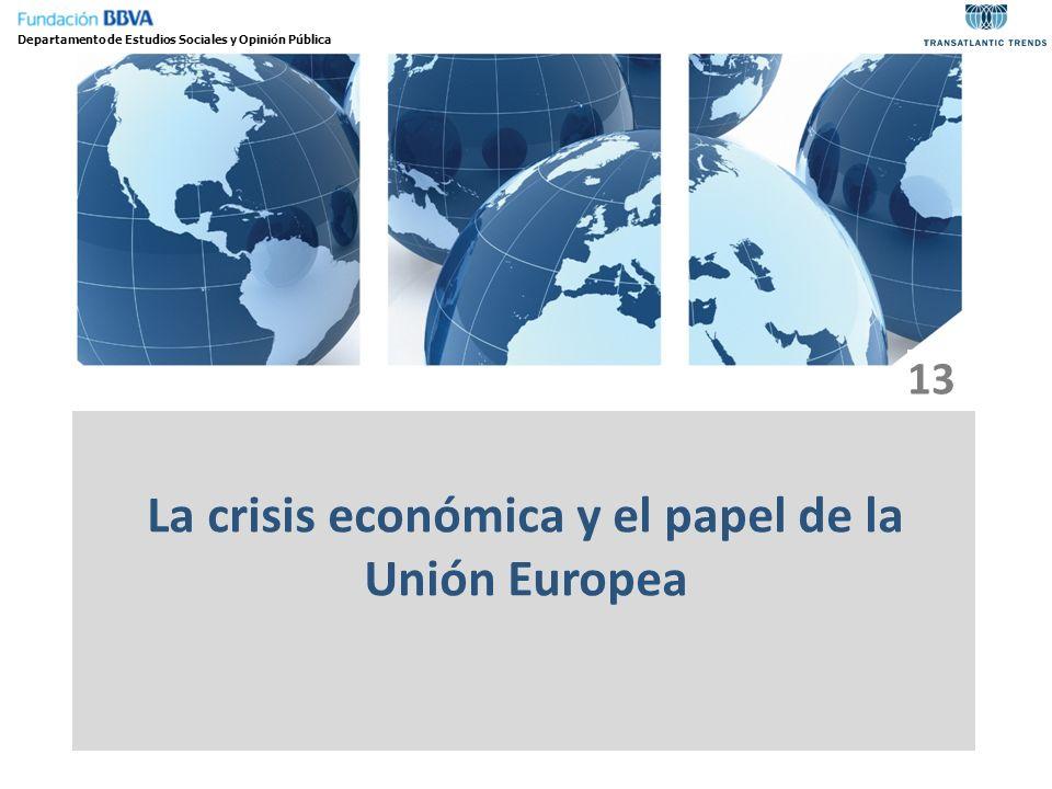 La crisis económica y el papel de la Unión Europea