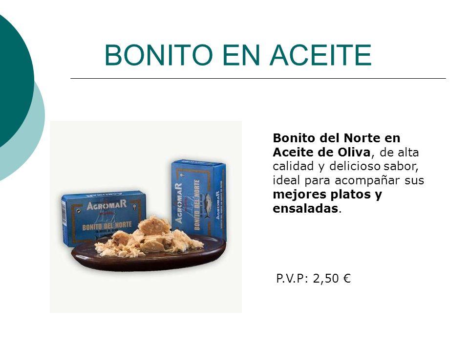 BONITO EN ACEITE Bonito del Norte en Aceite de Oliva, de alta calidad y delicioso sabor, ideal para acompañar sus mejores platos y ensaladas.