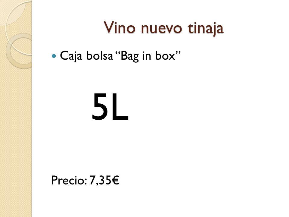 Vino nuevo tinaja Caja bolsa Bag in box Precio: 7,35€ 5L