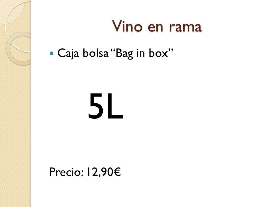 Vino en rama Caja bolsa Bag in box Precio: 12,90€ 5L
