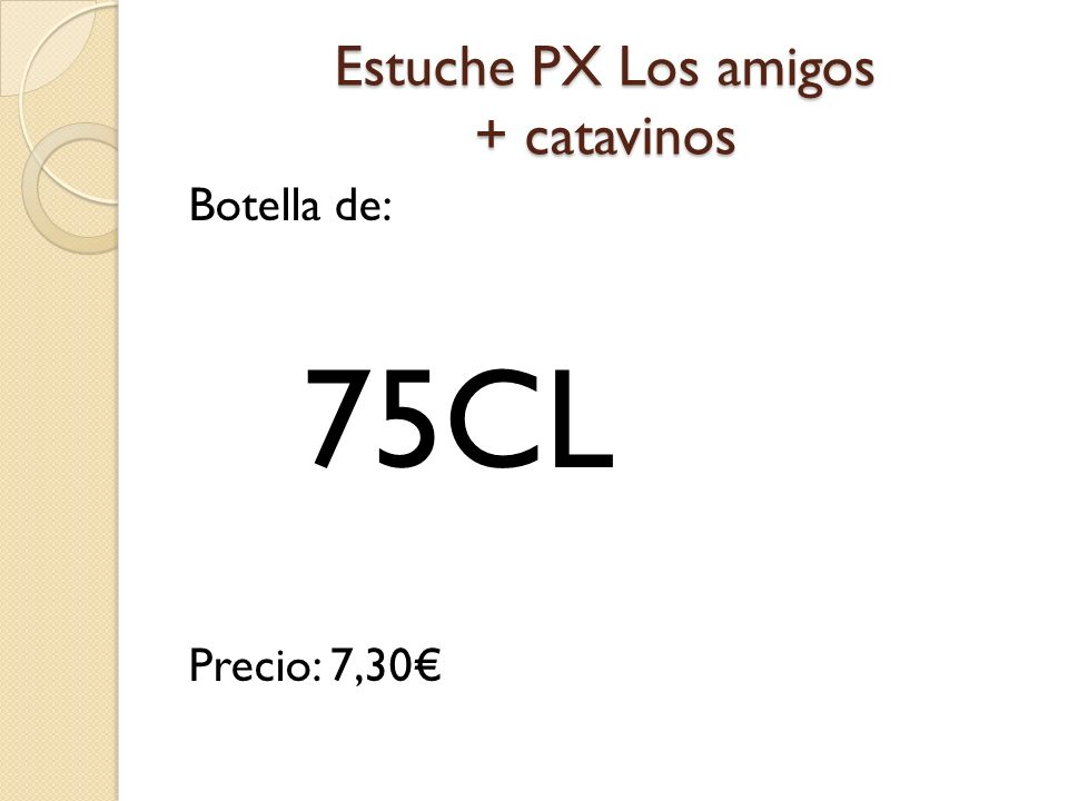 Estuche PX Los amigos + catavinos