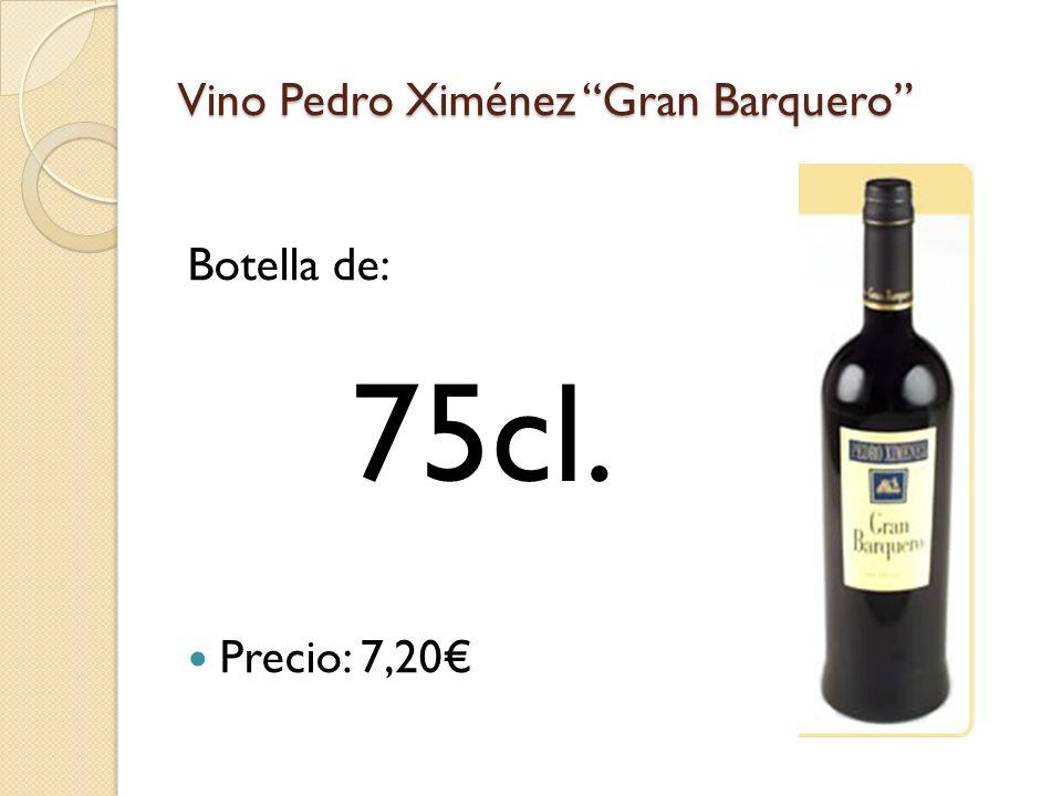 Vino Pedro Ximénez Gran Barquero