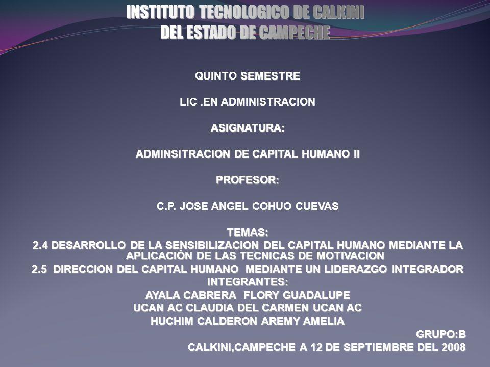 INSTITUTO TECNOLOGICO DE CALKINI DEL ESTADO DE CAMPECHE