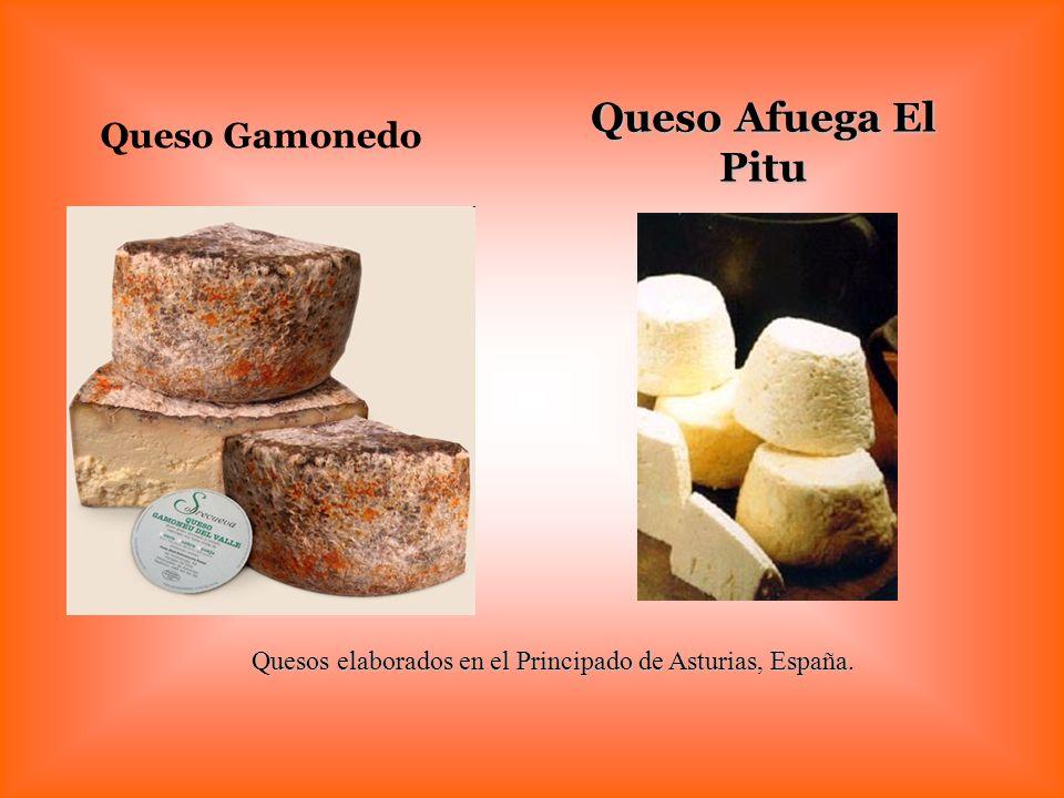 Quesos elaborados en el Principado de Asturias, España.