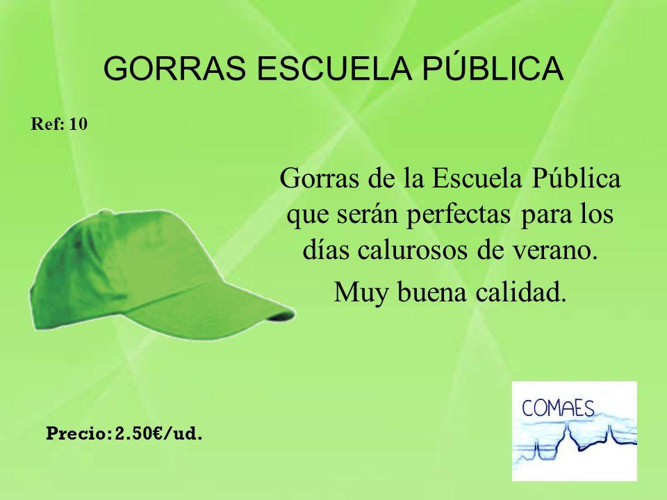 GORRAS ESCUELA PÚBLICA