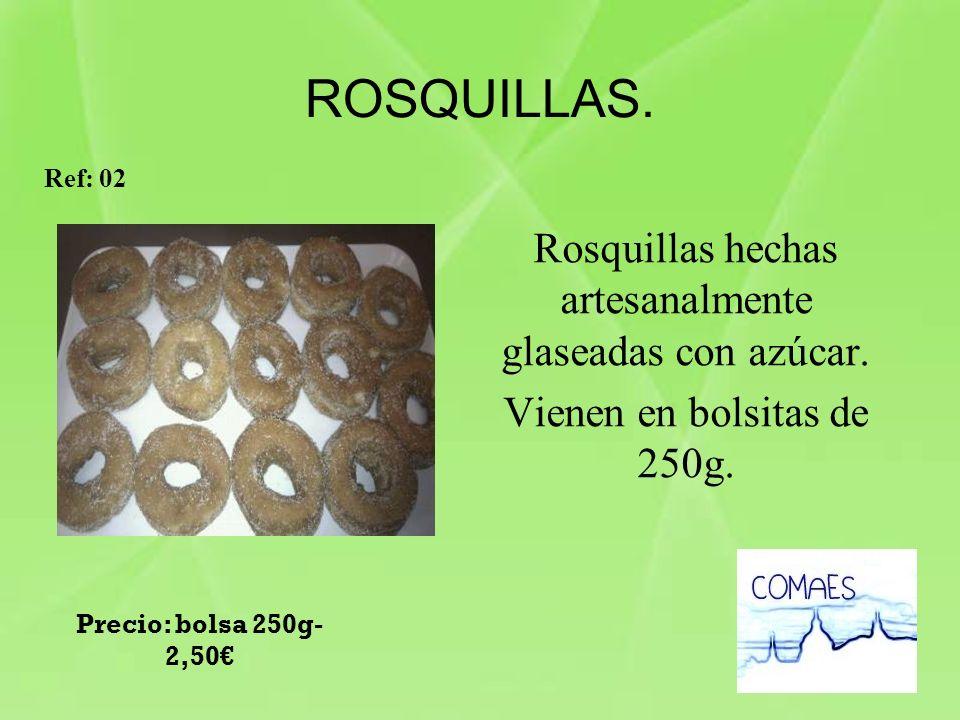 Rosquillas hechas artesanalmente glaseadas con azúcar.